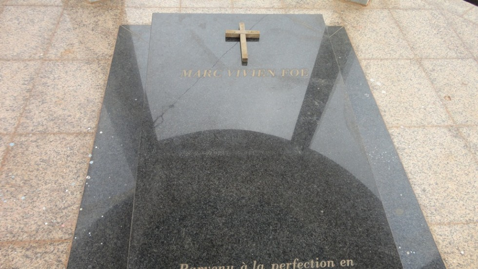 The tomb of the late footballer is one of the best kept items on the complex that bears his name.