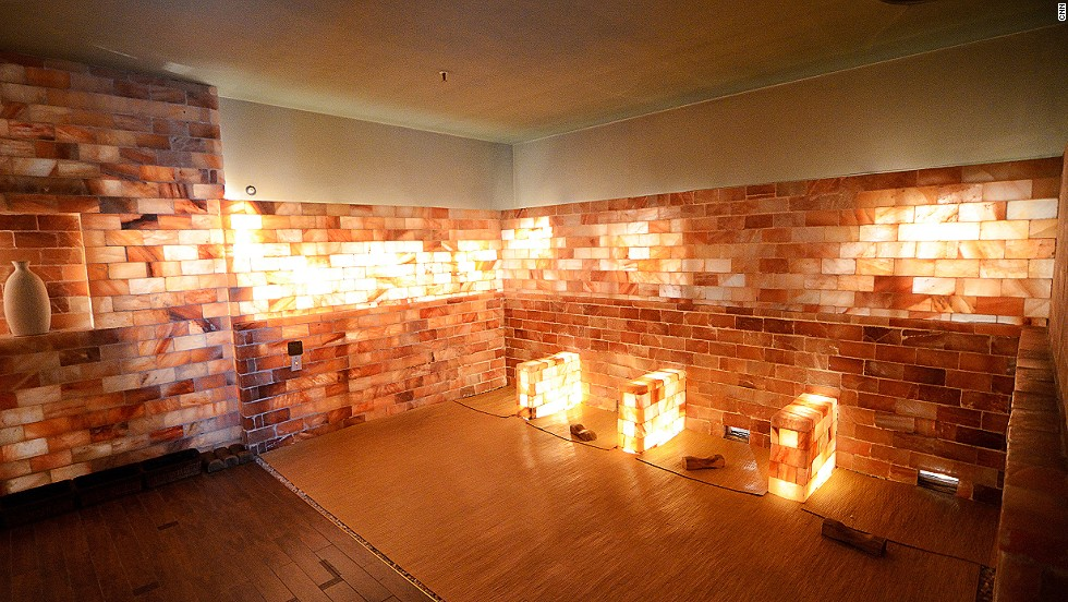Made of bricks of salt, the salt room is said to be good for the skin -- then again, there isn't a room in the spa that doesn't come with that claim.