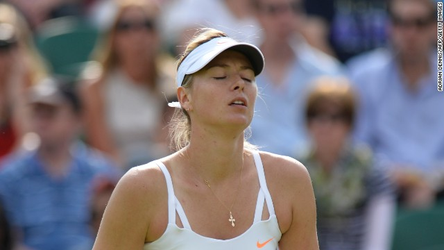 Sharapova suffered a shock second round defeat at Wimbledon before injury ended her season.