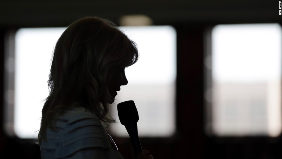 """During the onset of her speech, said the she was speaking for families whose """"personal relationships with their doctor and their Creator"""" would be violated by the bill."""