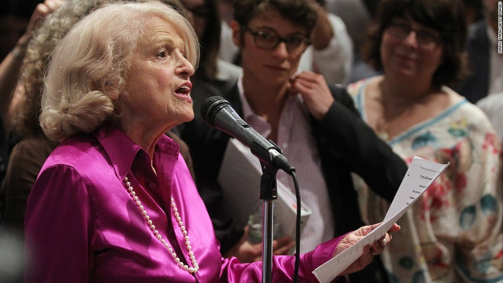 <strong>United States v. Windsor (2013):</strong> When her wife died in 2009, Edith Windsor, 84, was forced to pay hundreds of thousands of dollars in estate taxes because her marriage was not recognized by the federal government's Defense of Marriage Act of 1996. The Supreme Court struck down the part of the law which denied legally marriage same-sex couples the same federal benefits provided to heterosexual spouses.