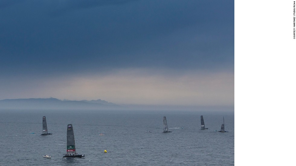 The RC44 Championship Tour is made up of two elements - fleet racing and match racing. With a strict 50-50 split between amateurs and professionals in each eight-person crew, the amateur owners take the wheel for the fleet racing, while the pro skippers get their chance to shine during the match race.