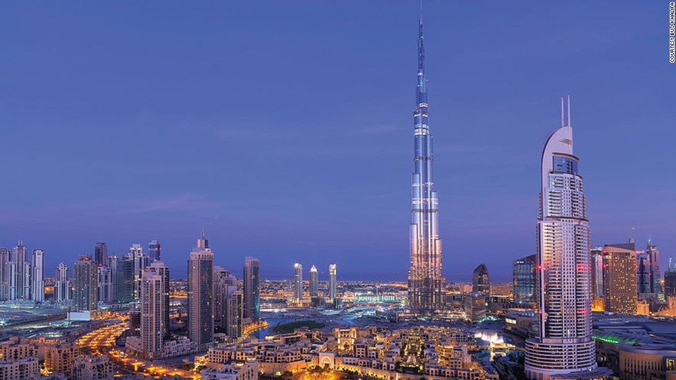 The Burj Khalifa has a height of 828 meters and is both the tallest building in the world and the tallest free-standing structure in the world. Engineers faced multiple challenges, including the strong winds that batter the tower. Because of this, over 40 wind tunnel tests were conducted, not just to determine how the wind would affect the building but also to test the cranes used to construct it. <strong>Completion date:</strong> January 4, 2010.