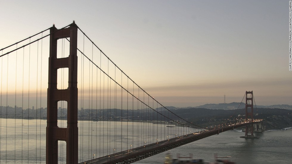 "Each of the bridge's two main cables is made of 27,572 strands of wire. <br />Often referred to as ""the bridge that couldn't be built,"" the Golden Gate Bridge crosses the stretch of water nicknamed ""the Golden Gate"" by gold prospectors heading to the Californian hills. Prior to 1937, San Francisco was America's largest city but its growth rate was slow compared to others, due to the lack of a link with other communities around the bay. The size of the strait (2,042 meters wide) combined with strong winds and regular earthquakes led many construction experts to say a bridge couldn't be built. The solution? Huge amounts of concrete, 128,747 kilometers (80,000 miles) of wire housed inside two cables, 600,000 rivets and a whole lot of hard work. <strong>Completion date: </strong>May 27, 1937."