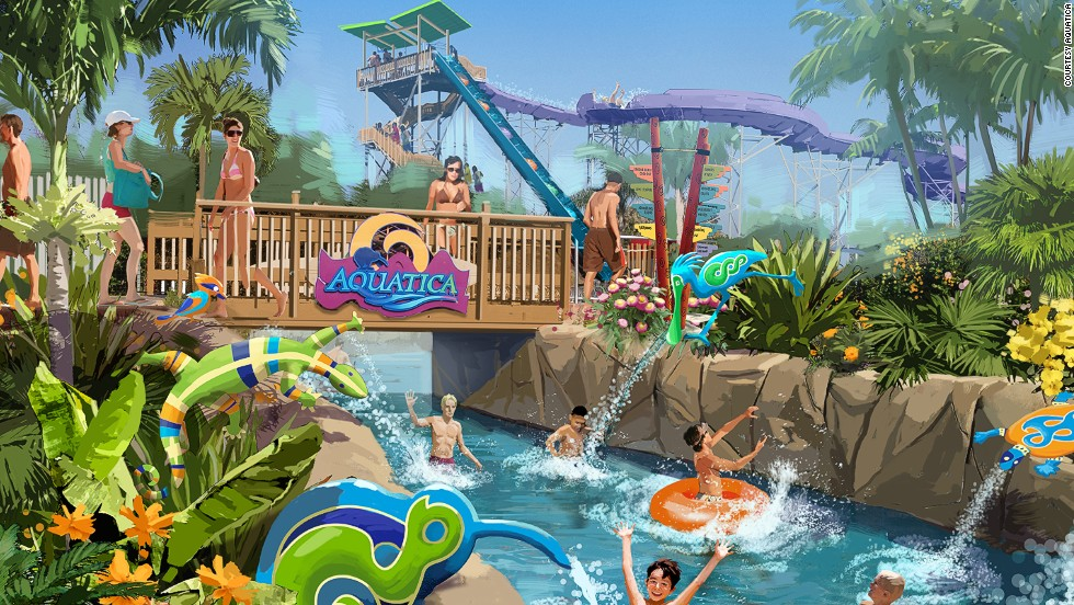 Aquatica revels in its animal habitats. The lazy river snakes through a flamingo enclosure and the wave pool borders a freshwater turtle habitat.<strong><br />Opened</strong>: June 2013.