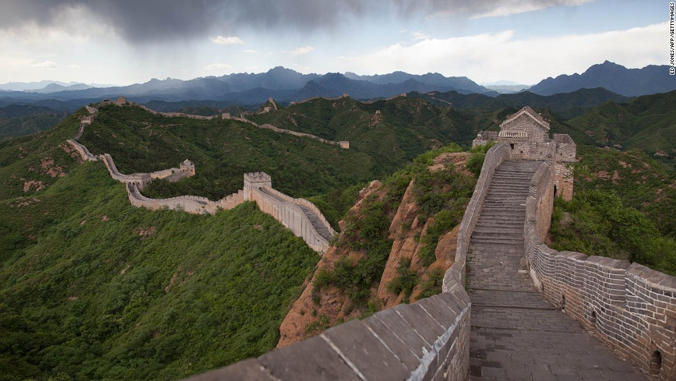 The Great Wall of China is 8,850 kilometers long (5,500 miles) and was constructed over a period of 2,000 years. Construction began in 475 BC, to protect China from the invading Huns. During the Ming dynasty, between 1368 and 1644 A.D, it was given a makeover, with the addition of watchtowers, battlements and cannons -- some of which stand 980 meters above sea level. The mortar used to bind the stones of the wall is made from rice flour. <strong>Completion date:</strong> 204 BC.