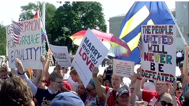Same-sex marriage supporters rejoice