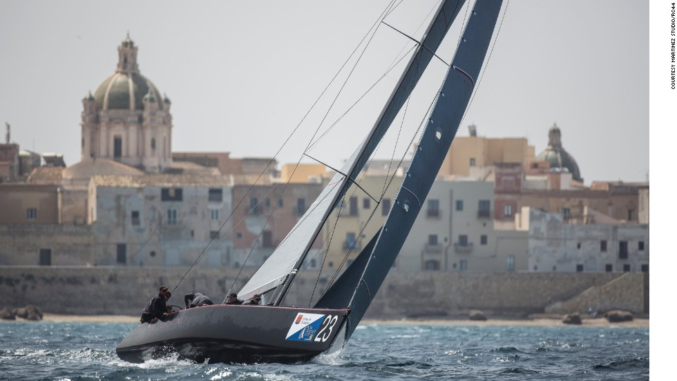 It is based in the picturesque city of Trapani on the west coast of Sicily, where for five days in May billionaires descend in their private jets to race alongside the biggest names in sailing.