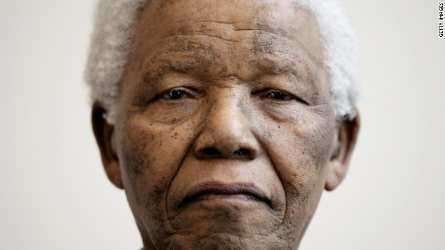Nelson Mandela attends a photocall at the Rica Hotel on June 11, 2005 in Tromso, Norway.