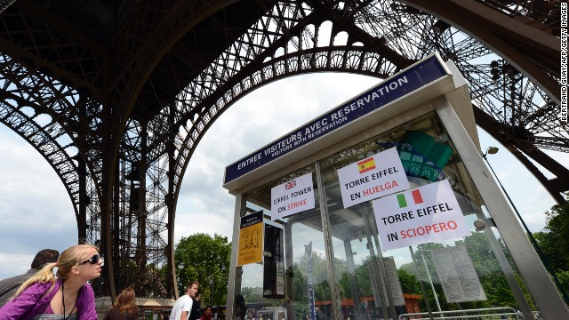 Tourists in Paris were disappointed this week to find the Eiffel Tower closed due to a strike.