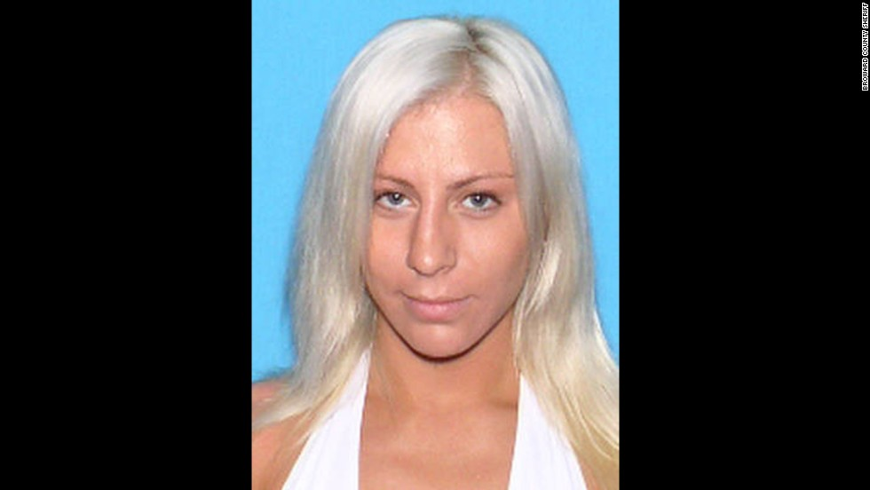 The sheriff's office of Broward County, Florida, released the images of four women they have accused of preying on men they pick up at South Florida bars. Ryan Elkins, 23, pictured here, is one of the four wanted women.