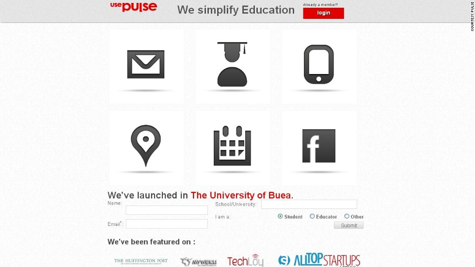 """Wish your university had a social network that doubles as a notice board and online classroom? Meet Cameroon's <a href=""http://www.usepulse.com"" target=""_blank""><strong>Pulse</a></strong>. <br />""The platform connects students and teachers, and Pulse offers $50 Android-based tablets for use at free university Wi-Fi hotspots. Notes, assignments and notices all at your fingertips. """