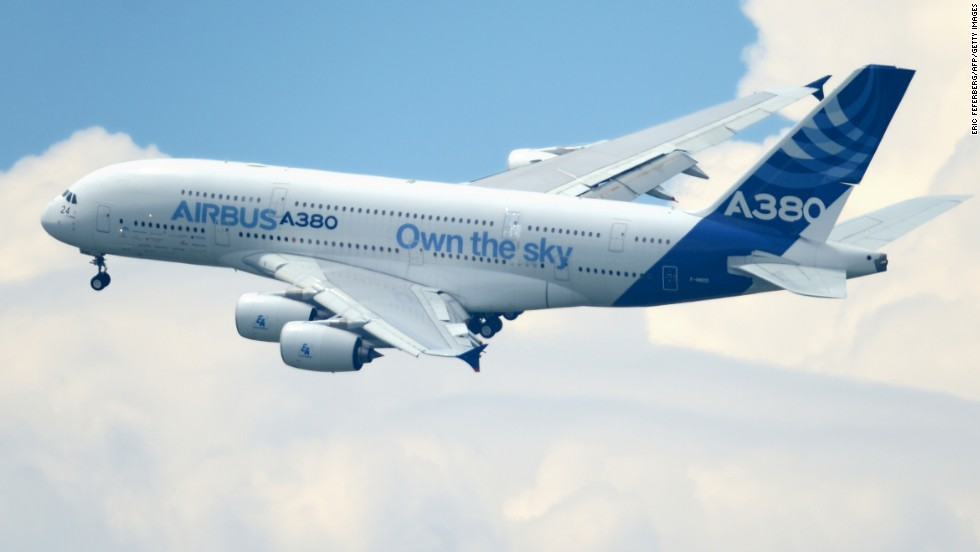 Airbus say they have orders for 262 A380s from 20 customers.
