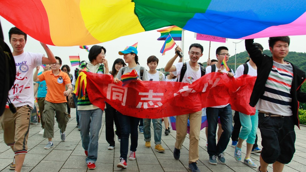 Activists march at a pride event in China. Photo courtesy of: CNN News