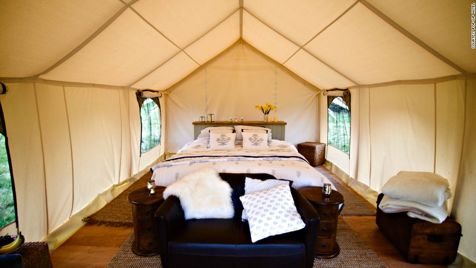 Just because they are not meant to last doesn't mean they come cheap - a four-day stay with The Pop-Up Hotel at UK's Glastonbury Festival will set you back at least $1,525.