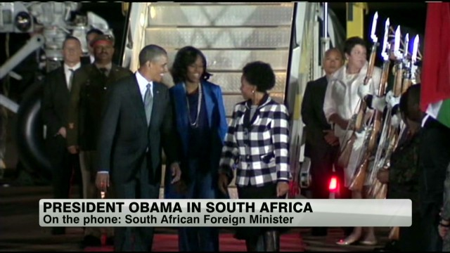 Woman who welcomed Obama to S. Africa