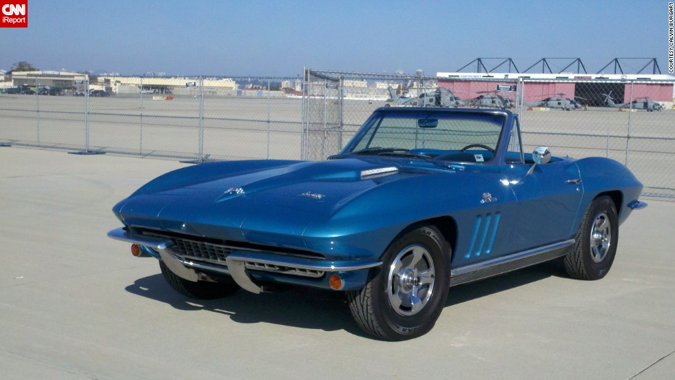 "At almost every gas station he stops at, <a href=""http://ireport.cnn.com/docs/DOC-996123"">Calvin Burgart </a>says people ask him if he is selling his 1966 Corvette Roadster in Nassau blue. ""This spring, I turned 70 years old and I still have the car. It looks and runs the same, I look and run a lot different,"" he said."