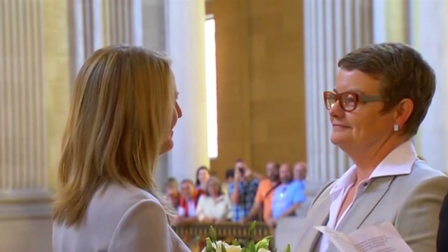 Plaintiffs in same-sex marriage case wed