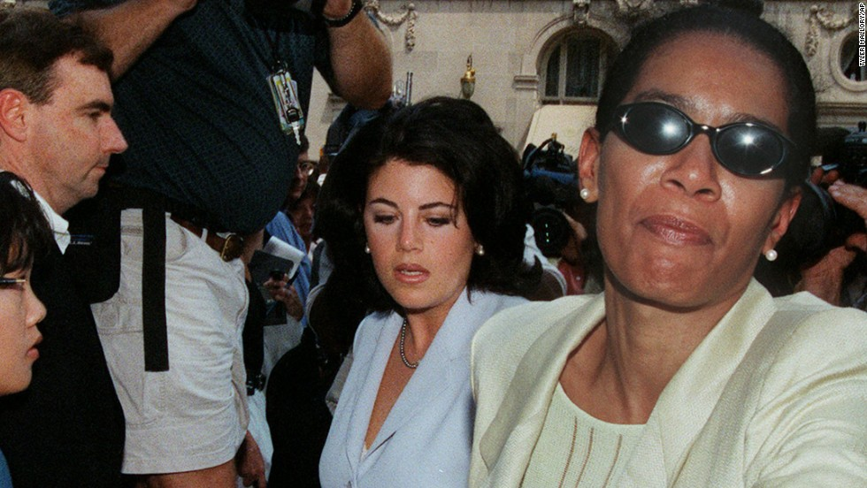 Here Smith is seen with Monica Lewinksy in 1998, when Smith aided the former White House intern during the Clinton sex scandal.