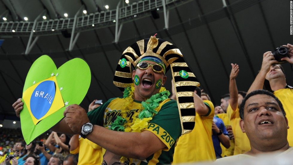 But inside the stadium, Brazilian fans attempted to put the country's problems aside for 90 minutes.