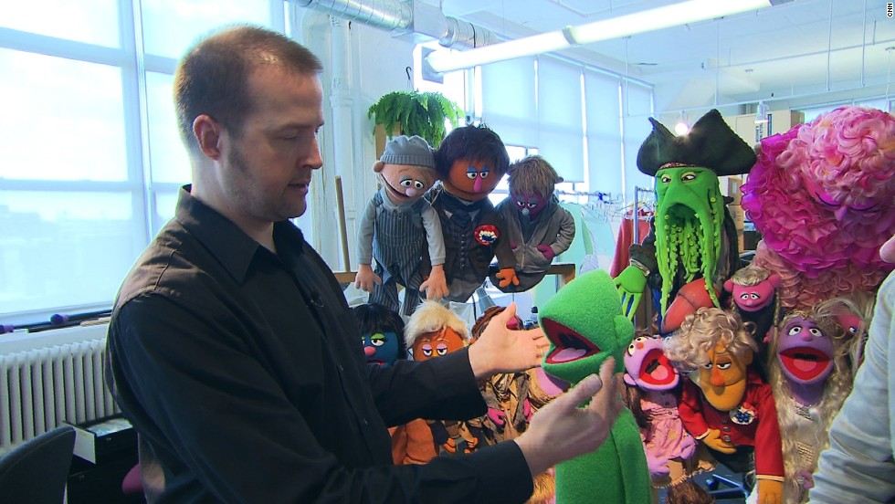 """This is our green 'Anything Muppet,' which is blank. So what kind of character can we create with this?"" asks Jason Weber, Creative Supervisor of Jim Henson's Creature Shop."