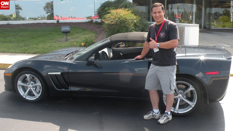 "<a href=""http://ireport.cnn.com/docs/DOC-996544"">Mark Baker</a> with his 2013 Grand Sport Convertible. ""I grew up with an interest in cars in general and loved the look of the '67 Corvette with the Stinger hood in particular. That eye-catching design and the brute power to go with it hooked me in,"" he said."