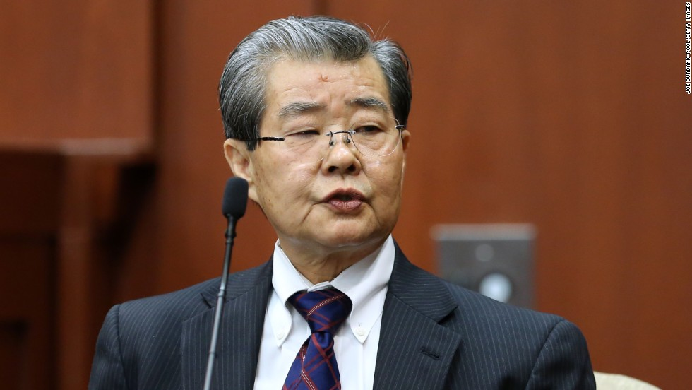 Hirotaka Nakasone, a voice recognition expert with the FBI, testifies in the Zimmerman trial on Monday, July 1.