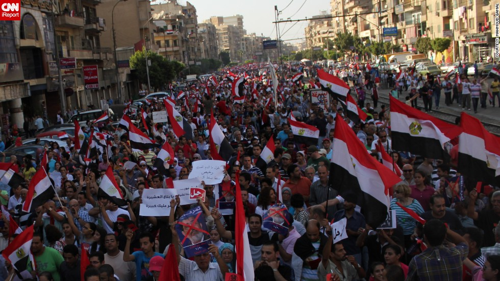"""""""I believe that the call for an early presidential election is fair enough,"""" iReporter <a href=""""http://ireport.cnn.com/people/MahmoudGamal"""">Mahmoud Gamal </a>said."""