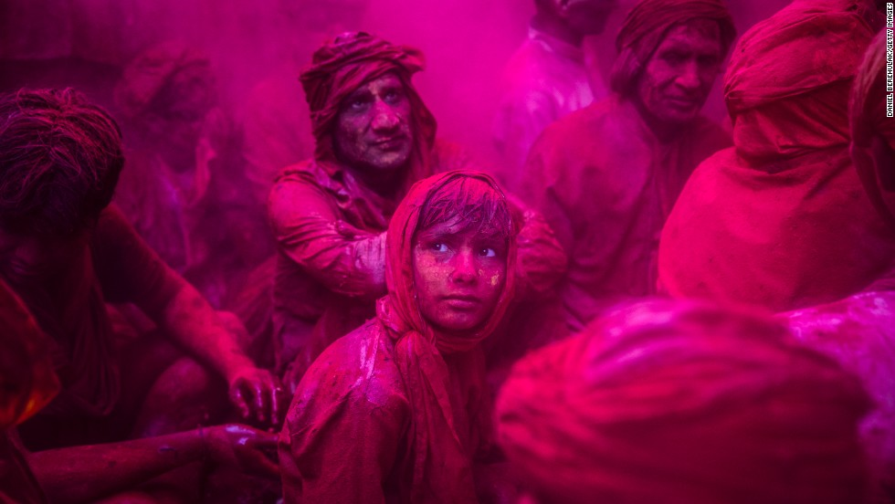 Holi, the festival of colors, is celebrated at the beginning of Spring in India (March 19 next year). The Hindu celebration is easily one of the brightest on the calendar. Each year, thousands of participants throw colored powder at each other, often ending the session looking positively tie-dyed.