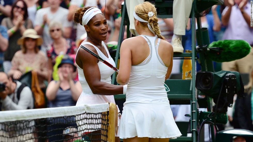 "Williams congratulated her opponent following the contest and told reporters:""I didn't play the big points good enough. I had a little hesitation. That explains it."""