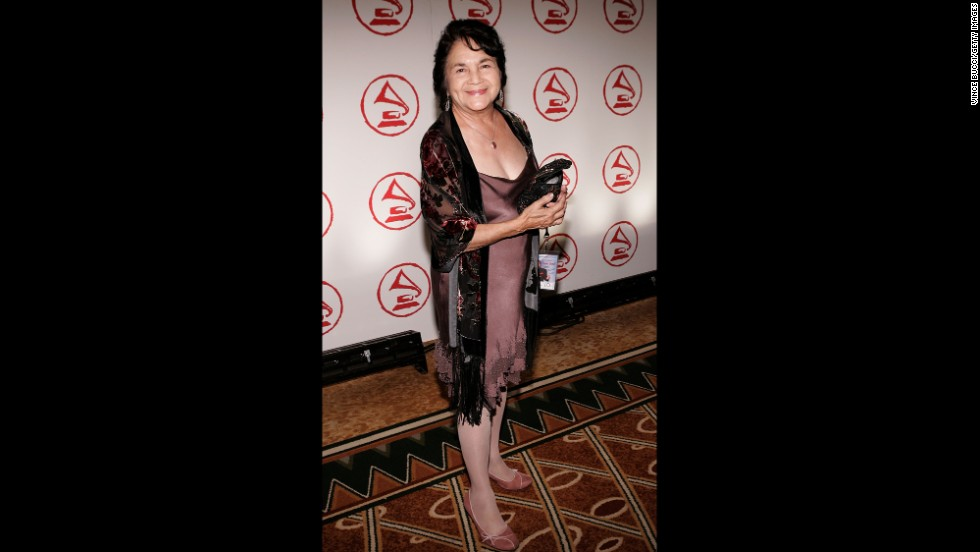 Huerta arrives at the 2005 Latin Recording Academy Person of the Year tribute dinner at the Regent Beverly Wilshire Hotel on November 1, 2005, in Beverly Hills.