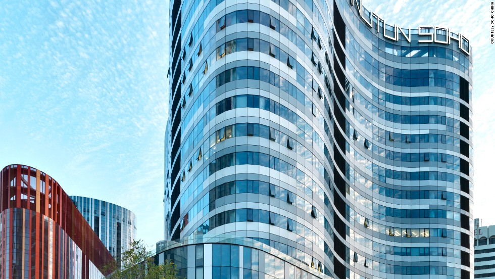 Sanlitun SOHO, completed in 2010, comprises of five shopping malls and nine office or apartment buildings of varying heights in Beijing.