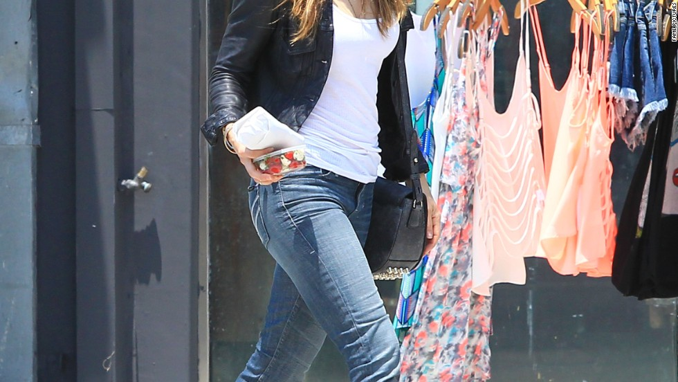 Jessica Biel hits the streets of Los Angeles on July 1.