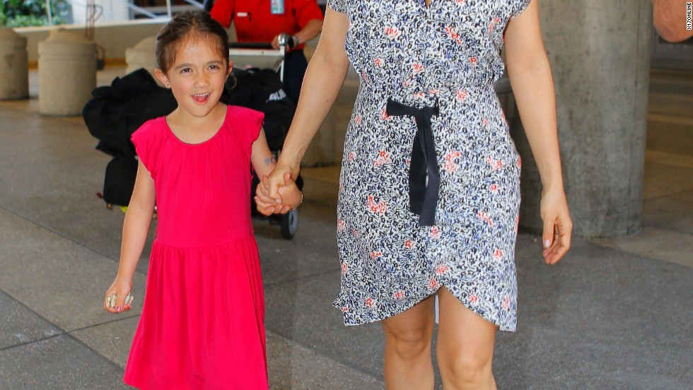 Salma Hayek and her daughter Valentina look lovely at the LAX airport on July 1.