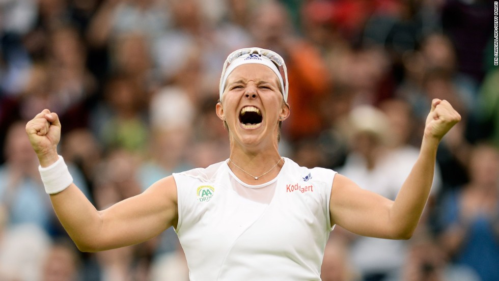 Belgium's Kirsten Flipkens reached her first ever grand slam semifinal following a tense three set victory over 2011 champion Petra Kvitova. This time last year, Flipkens was ranked 262nd in the world -- now she'll meet Marion Bartoli for a place in the final.