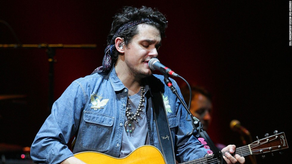 John Mayer gives fans a private show in Philadelphia, Pennsylvania on July 2.