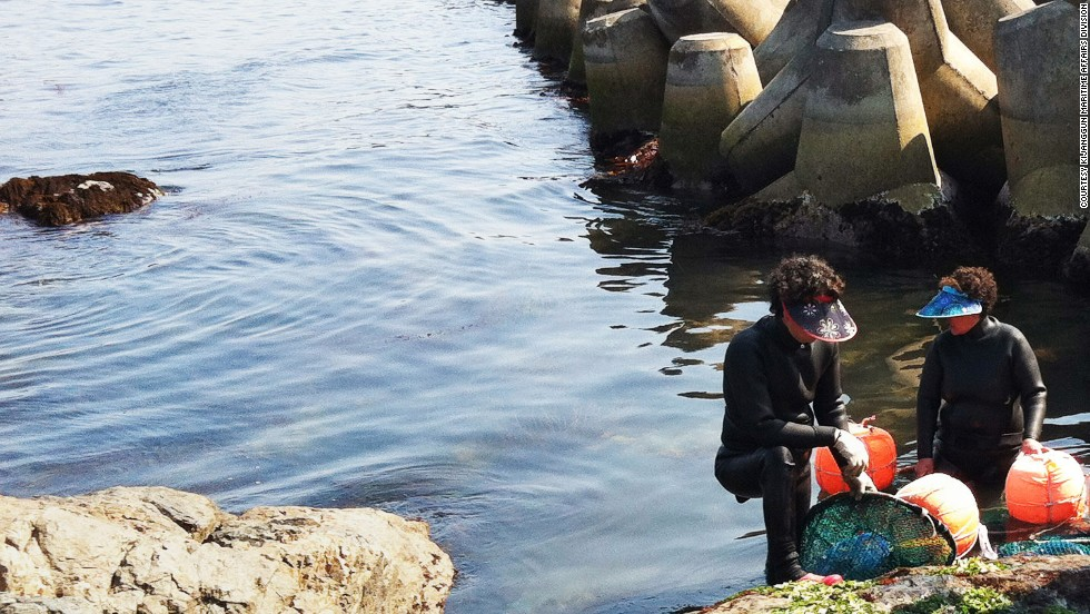 "Haenyeo (""sea women"") begin diving at around 5 a.m. each day. Their catches will appear on menus in Yeonhwari within hours."