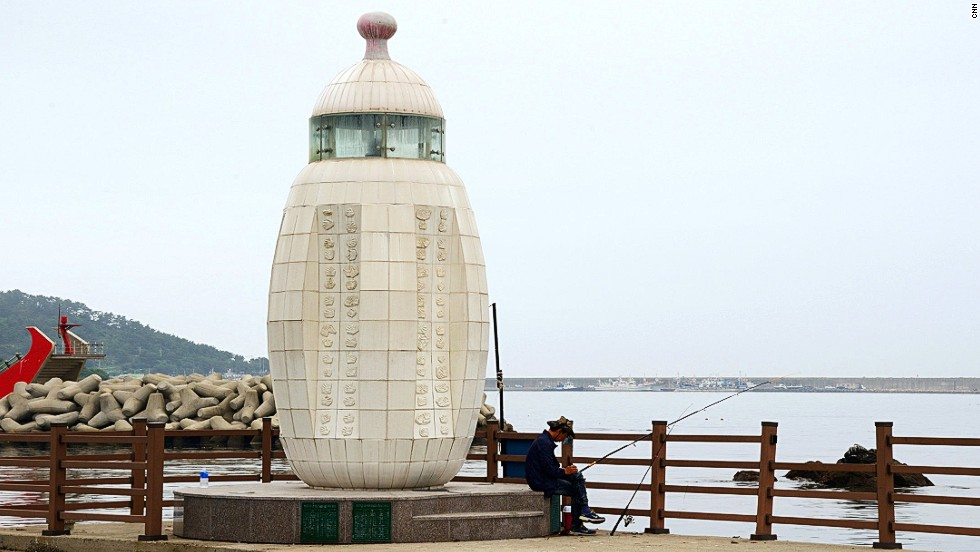 Busan's Baby Bottle Lighthouse was built to symbolize and encourage childbirth. South Korea's birth rate is among the lowest in the developed world (1.2 in 2010).