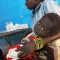 malaria congolese woman child msf