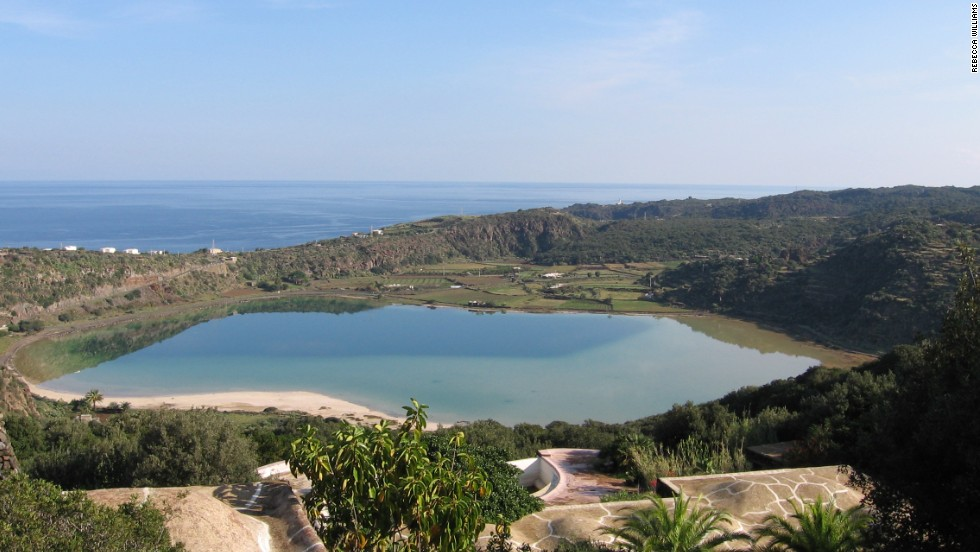 Pantelleria is home to an ancient caldera lake. Calderas are created when a volcano's mouth collapses during a major eruption. Pantelleria is Sicily's largest offshore island and lies closer to Africa than Italy.