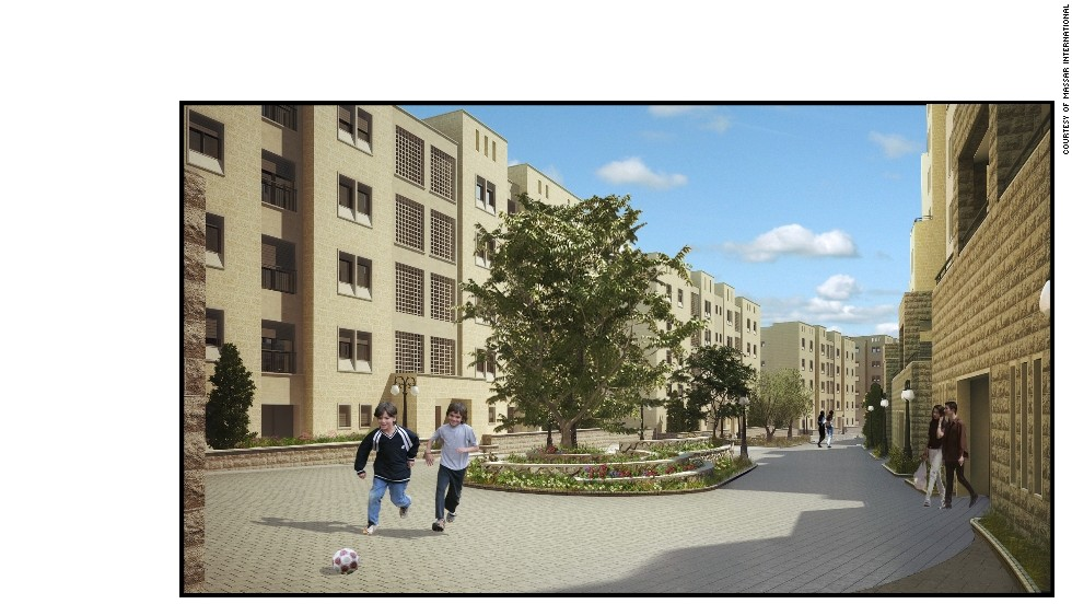 The vision for the finished project includes homes for 40,000 residents and three schools.