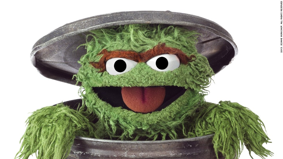 "A bad-tempered green monster who loves ""anything dirty or dingy or dusty"" and lives in a trash can: perhaps not an obvious choice for a children's TV hero. Yet <strong>Oscar the Grouch</strong>, whose ambition is to be as miserable as possible, has failed to ruin viewers moods, bringing humor and fun to the Street."