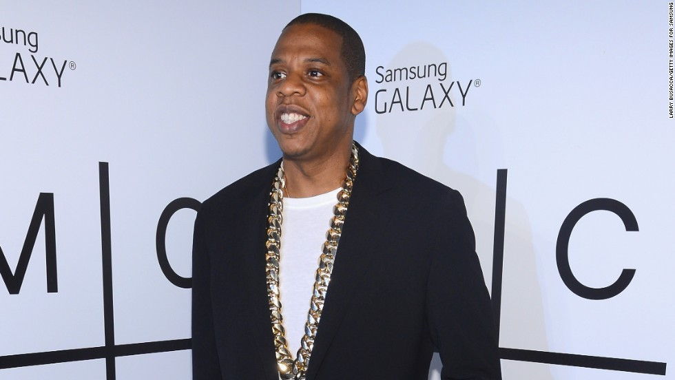 "Jay-Z attends the Samsung party for his new album, ""Magna Carta Holy Grail,"" in New York on July 3."