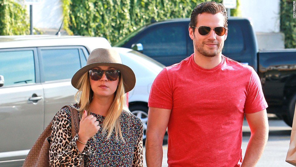 New couple Kaley Cuoco and Henry Cavill hold hands as they shop in Los Angeles on July 3.