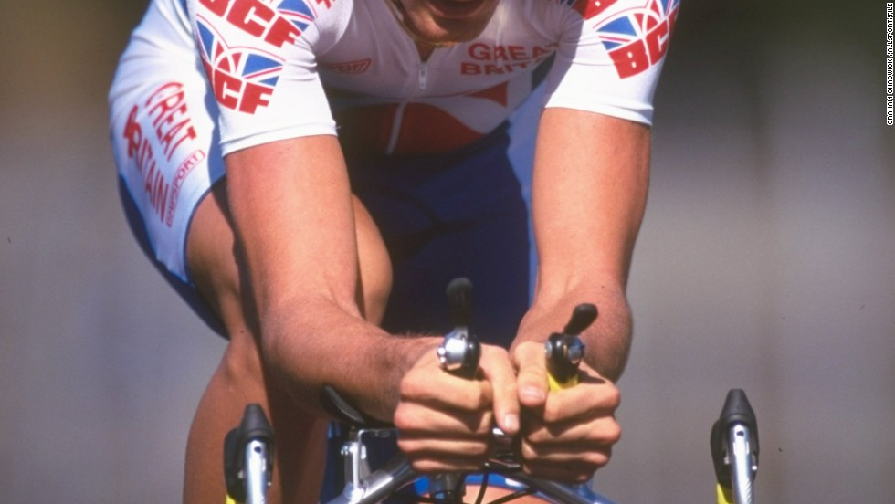 The Scot, who was born in Malta in 197, is pictured here competing at the 1997 Road Cycling World Championships. He signed his first professional contract with the Cofidis team.