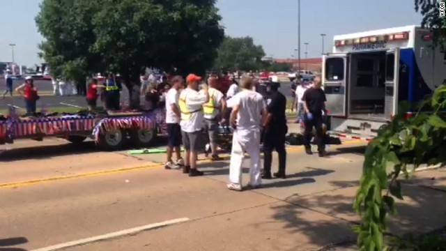 A boy died Thursday in an accident at a Fourth of July parade in Edmond, Oklahoma.