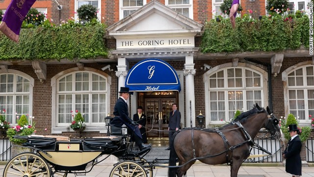 Check in at The Goring Hotel, where Kate Middleton spent the night before her wedding to Prince William.