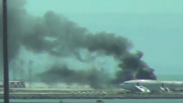 Plane crashes at San Francisco airport