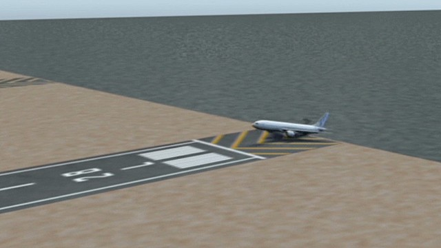 Animation re-creates 777 crash landing
