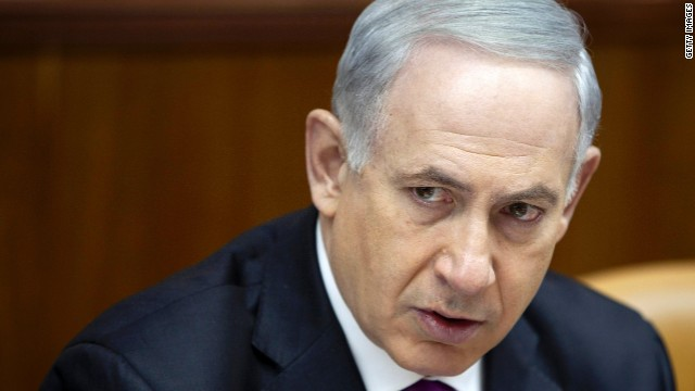Israeli Prime Minister Benjamin Netanyahu attends the weekly Cabinet meeting on Sunday in Jerusalem.